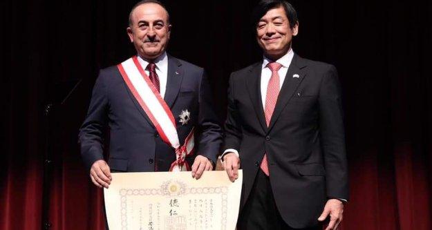 Çavuşoğlu'na Japonya devlet nişanı verildi