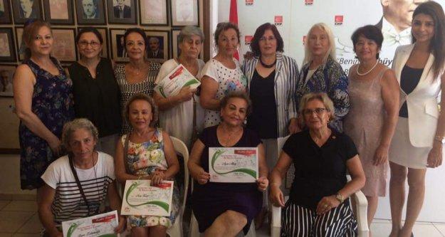 CHP'den kadınlara teşekkür belgesi