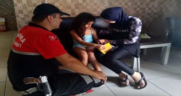 Kaybolan Filistinli çocuğu jandarma buldu