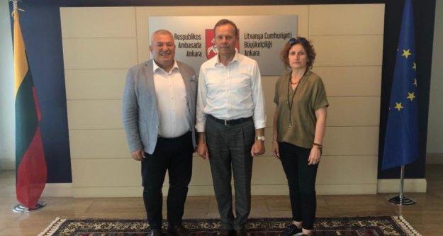 Konsolos Şahin, Ankara'da Litvanya heyetinin değişim törenine katıldı