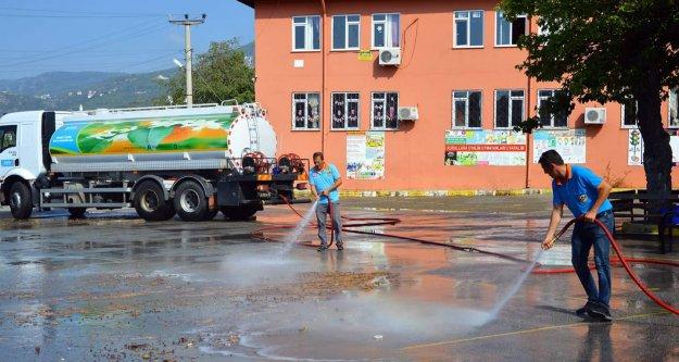 Alanya Belediyesi'nden okullarda yeni dönem temizliği