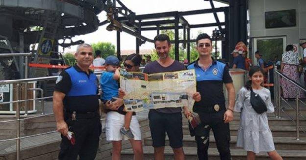 Alanya'da polis 40 bin harita dağıttı