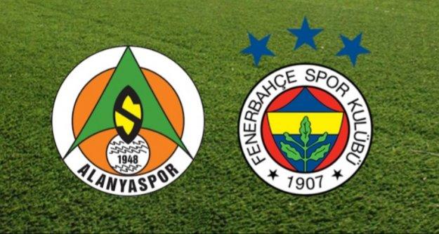 Alanyaspor Fenerbahçe maçının 11'leri belli oldu