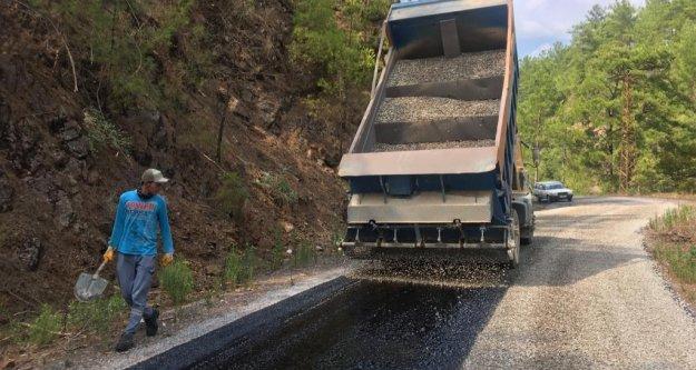 Büyükşehir Alanya'daki o grup yolunu asfaltlıyor