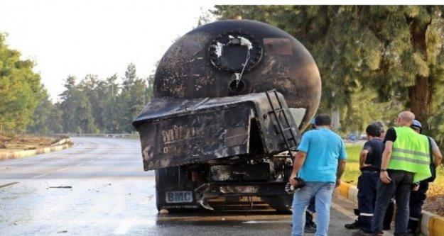 LPG tankeri tam 10 saat yandı
