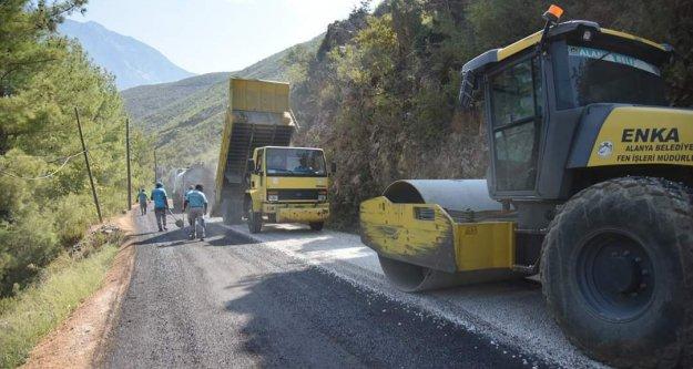 Sapadere Kanyon yolu genişletilerek asfaltlandı