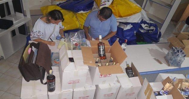 739 adet sahte bandrollü alkol ele geçirildi