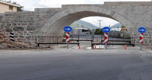 Alanya'daki tarihi köprü yenilendi