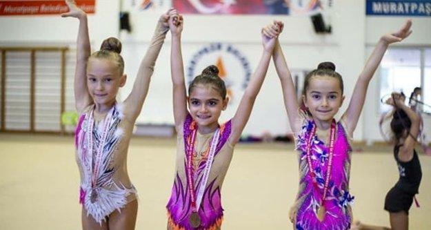 Alanyalı sporcular Cimnastikte Antalya birincisi oldular