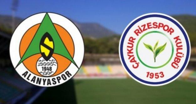 Alanyaspor Rizespor maçının 11'leri belli oldu