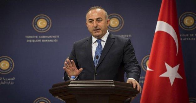 Bakan Çavuşoğlu: 'Operasyon Milletler Güvenlik Konseyi'nin terörle mücadeleye ilişkin kararları gereğince icra edilmekte'