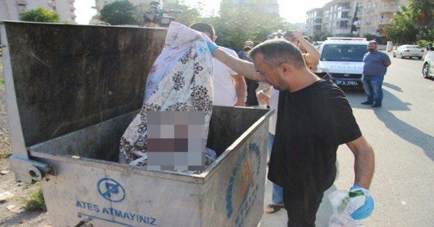 Çöp konteynerinde 'cenin' alarmı takma diş ve kanlı bez çıktı