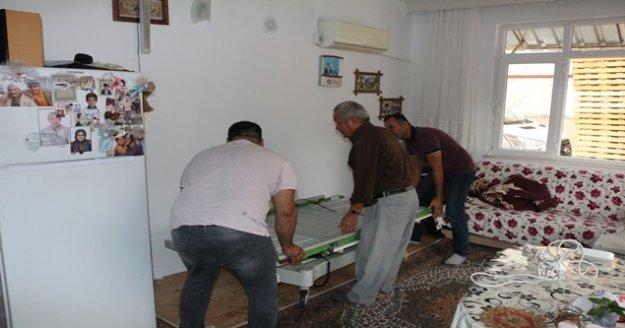 Dört vatandaşa hasta yatağı desteği verildi