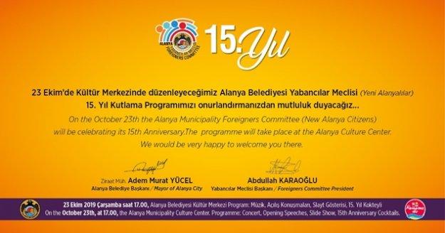 Yabancılar meclisi 23 Ekim'de 15.yılını kutlayacak