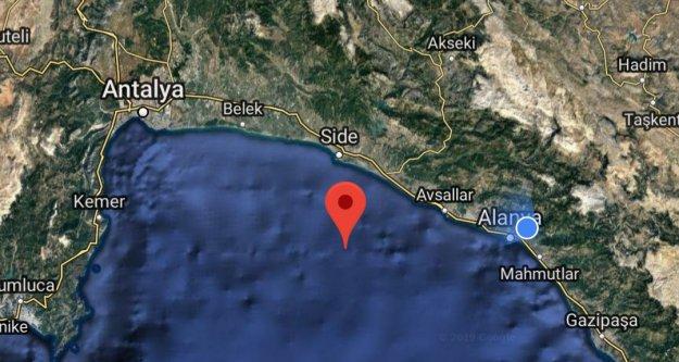 Alanya'yı korkutan deprem