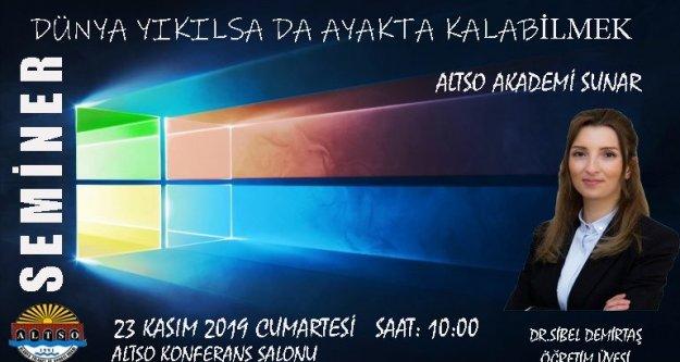 ALTSO Akademi'den Bilişsel Esneklik semineri