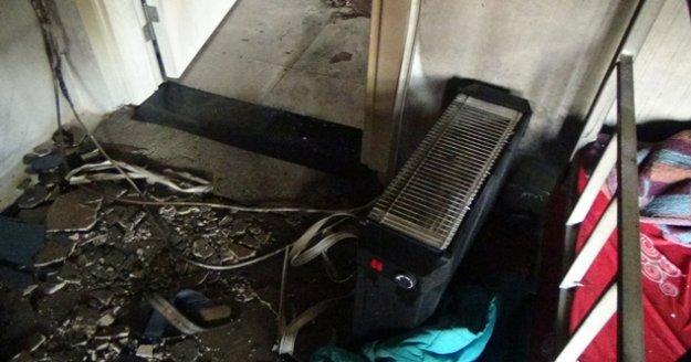 Fişte takılı bırakılan elektrikli ısıtıcılar yangına sebep oldu
