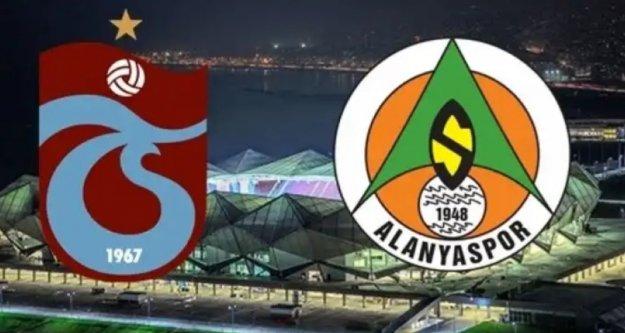Trabzonspor Alanyaspor maçının 11'leri belli oldu
