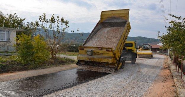 Alanya'da alt yapı sonrası asfalt