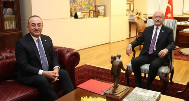 Bakan Çavuşoğlu, Kılıçdaroğlu'yla görüştü