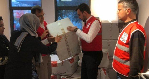 Alanya Ak Parti toplanan yardımları Elazığ'a gönderdi
