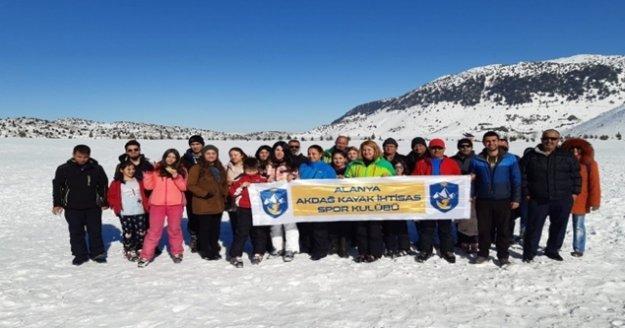 Alanya#039;da kayak öğrenmeyen kalmayacak!