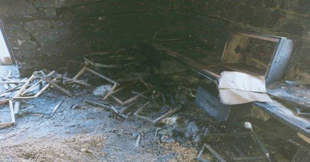 Alanya'daki yangında bir ev kül oldu