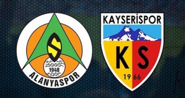 Alanyaspor Kayserispor maçının 11'leri belli oldu