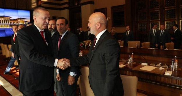 Başkan Çavuşoğlu, Cumhurbaşkanı Erdoğan'la görüştü