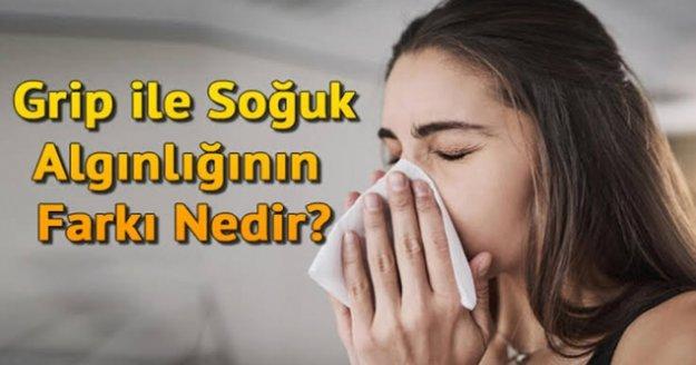 Grip ve soğuk algınlığı aynı şey değil!