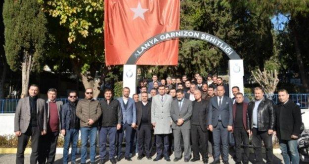 MHP yönetimi şehitlik ziyareti ile işbaşı yaptı