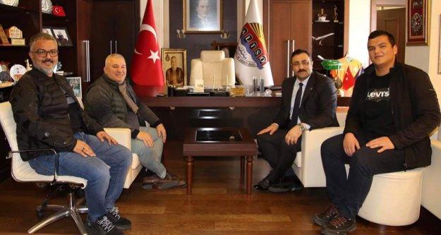 Rektör Kalan'dan Şahin'e ALKÜ ziyareti