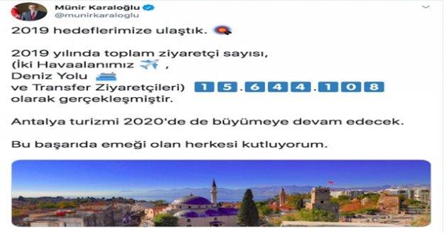 """Vali Karaloğlu'ndan rekor paylaşımı: """"15 milyon 644 bin 108"""""""