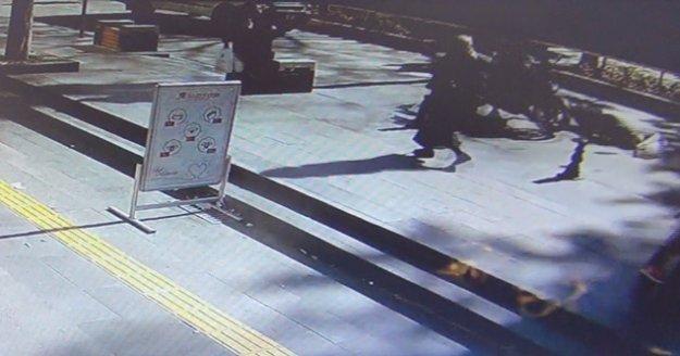 Yaya geçidindeki kadına motosiklet çarptı, kadın ölümden döndü