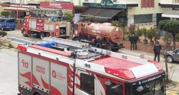 Alanya'da işyerinde yangın paniği