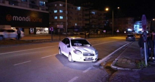 Alanya'da kaza yapan sürücü aracını bırakıp kaçtı