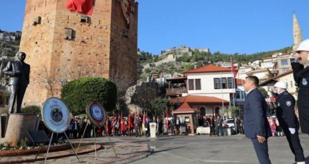 Atatürk'ün Alanya'ya gelişini kutladık