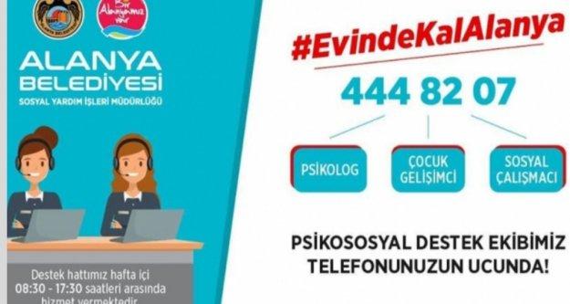 Alanya Belediyesi'nden vatandaşa psikolojik destek