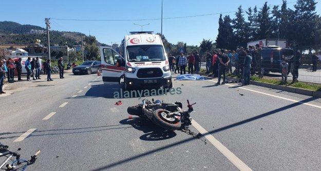 Alanya'da feci kaza: 1 ölü, yaralı var