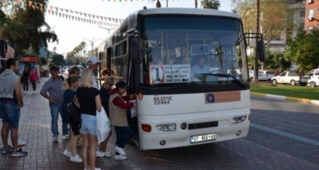 Alanya'da toplu ulaşıma koronavirüs ayarı