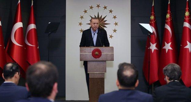 Erdoğan 7 aylık maaşını bağışlayarak Milli Dayanışma Kampanyası'nı başlattı