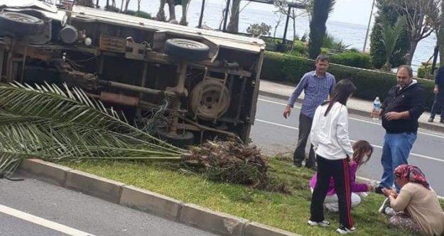 Alanya'da yürekleri ağza getiren kaza