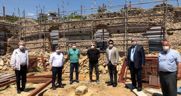 Alanya CHP Gülevşen Camii inşaatını inceledi