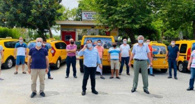 Alanya'da 55 durak ve 883 taksi dezenfekte edildi