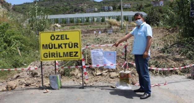 Alanya'da 56 yıl sonra kapatılan yol yeniden açılıyor