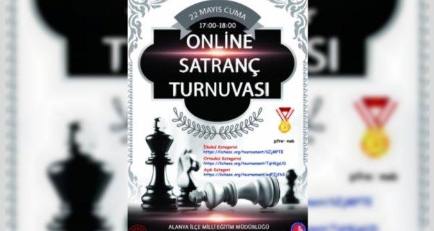 Alanya'da online satranç turnuvası düzenleniyor
