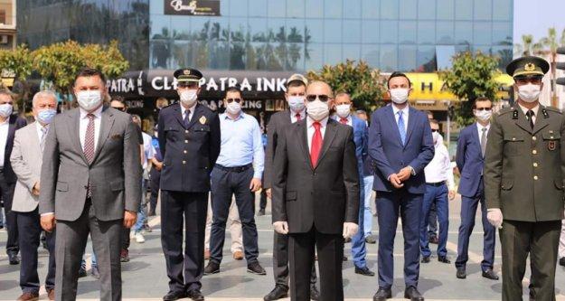 Alanya'da sosyal mesafeli 19 Mayıs coşkusu