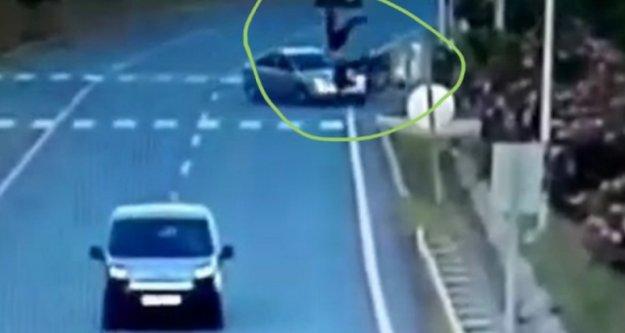 Alanya'daki korkunç kaza kameraya böyle yansıdı