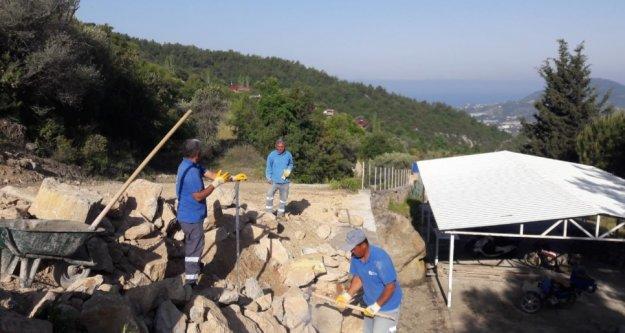 Alanya kırsalında bakım onarım devam ediyor