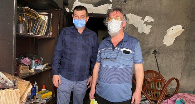 MHP Alanya'dan mağdur aileye yardım eli